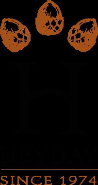 vertical logo for Heyday Books