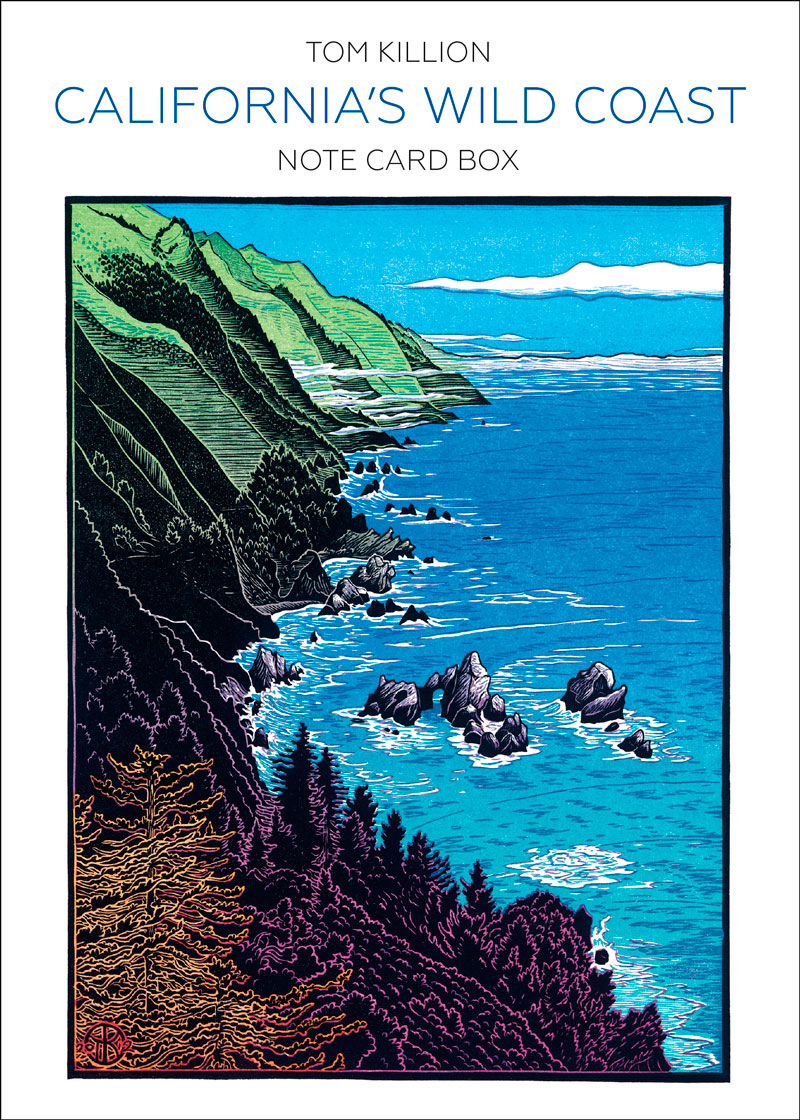 photo of box titled Californias Wild Coast Note Card Box