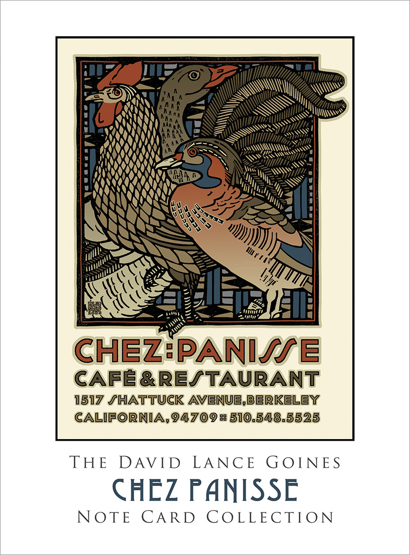 The David Lance Goines Note Card Collection: Chez Panisse