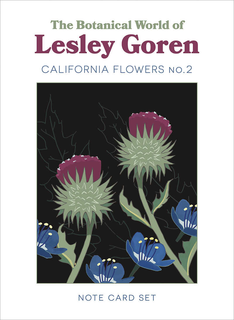 Photo of a book titled The Botanical World of Lesley Goren California Flowers No.2