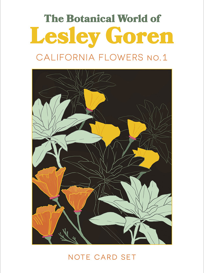 Photo of a book titled The Botanical World of Lesley Goren California Flowers No.1
