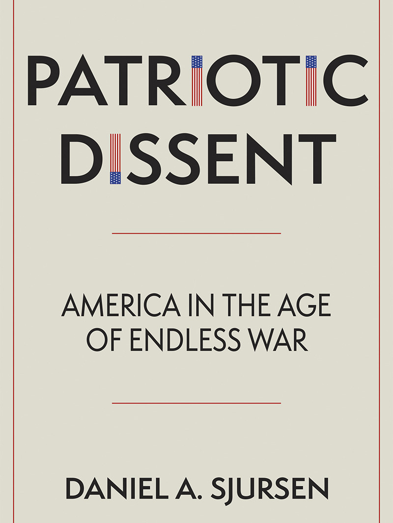 photo of a book titled Patriotic Dissent