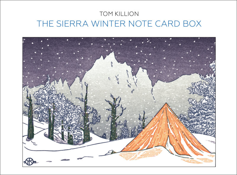 The Sierra Winter Note Card Box